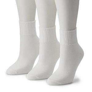 Women's Sonoma Goods For Life® 3-pk. Turn Cuff Ribbed Crew Socks
