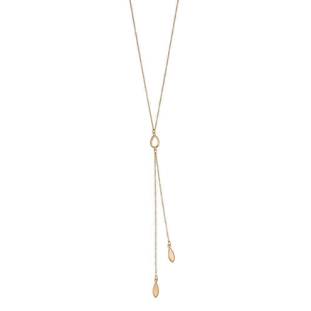 LC Lauren Conrad Teardrop Y Necklace