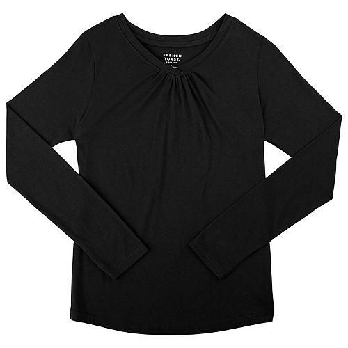 44b8d1ecc4f Girls 7-16   Plus Size French Toast Long Sleeve V-Neck Tee