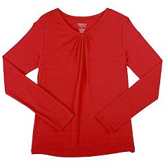 Girls 7-16 & Plus Size French Toast Long Sleeve V-Neck Tee