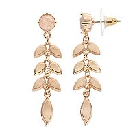 LC Lauren Conrad Leafy Vine Nickel Free Drop Earrings