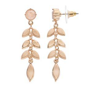 LC Lauren Conrad Leafy Vine Nickel Free Drop Earrings
