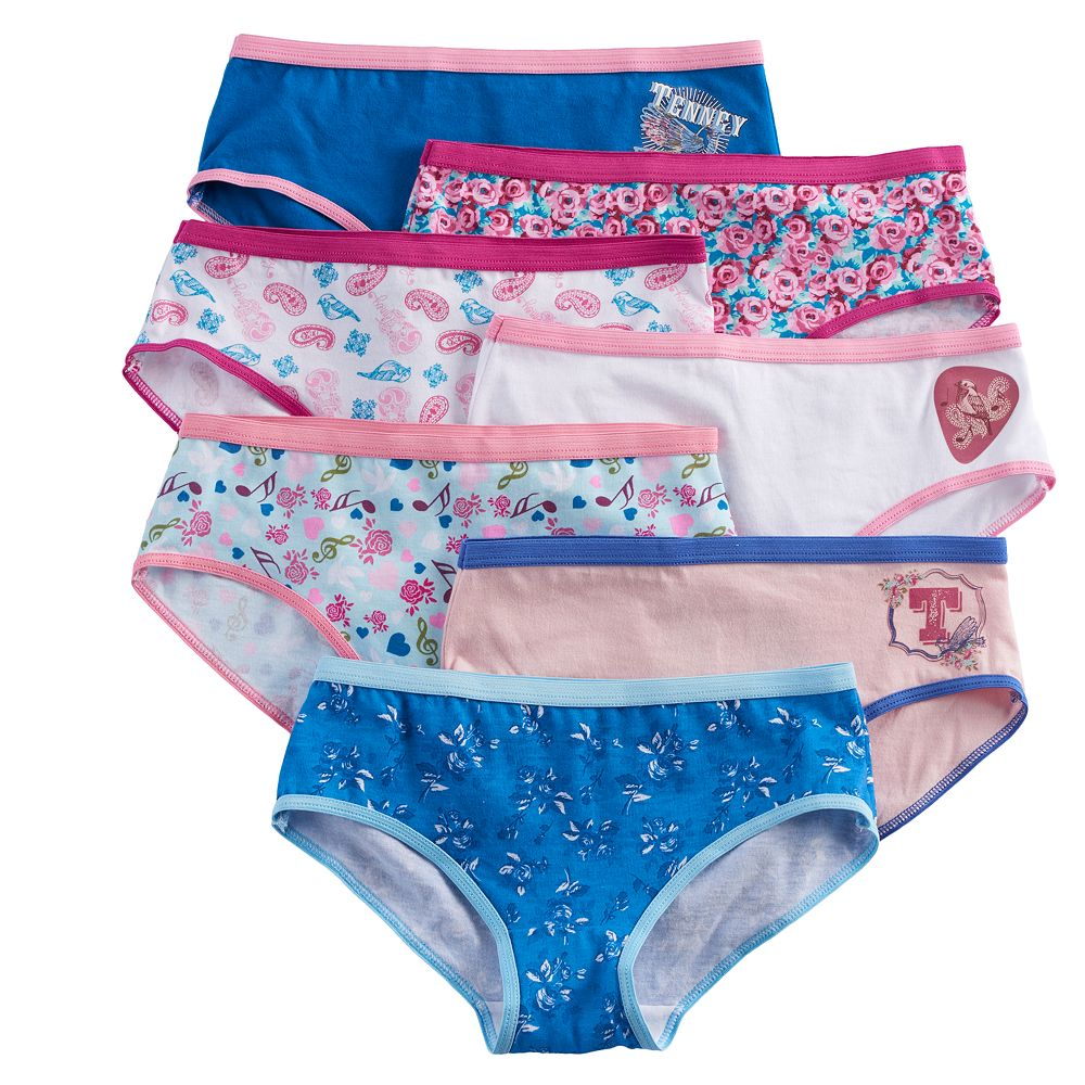 3b47cc2147e6 Girls 6-10 American Girl Tenney 7-pk. Hipster Panties