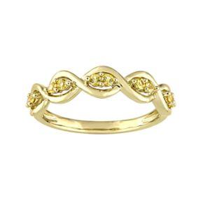 Stella Grace 14k Gold Yellow Sapphire Wavy Ring