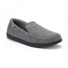 Men's isotoner Ian Perforated Microsuede Slippers