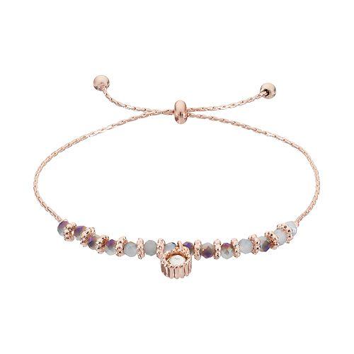 LC Lauren Conrad Iridescent Beaded Lariat Bracelet