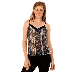 Juniors' Wallflower Velvet Trim Swing Tank