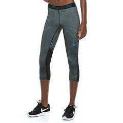 Women's Nike Training Mesh Panel Capri Leggings