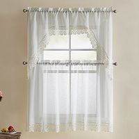 VCNY 4-piece Galiana Lace Kitchen Curtain Set
