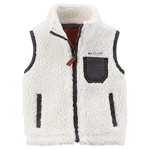 Baby Boy Carter's Sherpa Zip Front Vest