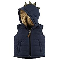 Baby Boy Carter's Spike Dinosaur Hooded Vest