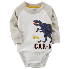 Baby Boy Carter's 'Car-nivore' Dinosaur Mock-Layered Bodysuit
