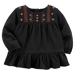 Baby Girl Carter's Embroidered Ruffle Tunic