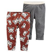 Baby Girl Carter's 2-pk. Butterfly & Glitter Leggings