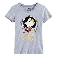Girls 7-16 DC Comics Wonder Woman Glitter Graphic Tee