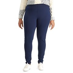 Plus Size Chaps Stretch Ponte Skinny Pants
