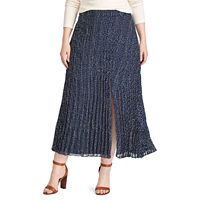 Plus Size Chaps Pleated Skirt