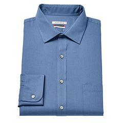 Big & Tall Van Heusen Flex Collar Regular Tall Pincord Dress Shirt
