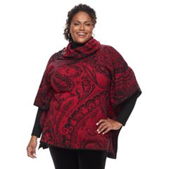 Plus Size Dana Buchman Turtleneck Poncho