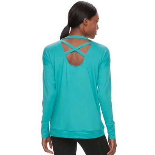 Women's Tek Gear® Crisscross-Back Long Sleeve Tee