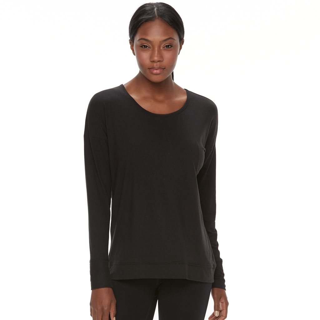 Women's Tek Gear® Crisscross-Back Long Sleeve Tee