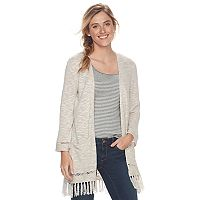 Women's SONOMA Goods for Life™ Fringe Cardigan