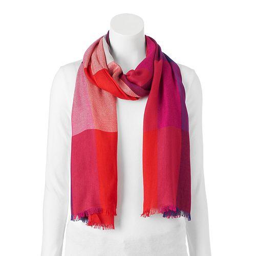 Apt. 9® Yarn Dyed Colorblock Pashmina Oblong Scarf