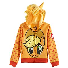 Girls 4-6x My Little Pony Applejack 3D Mane & Ears Hoodie