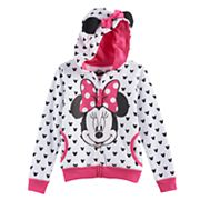 Disney's Minnie Mouse Girls 4-6x 3D Ears & Bow Hoodie