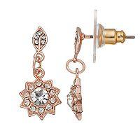 LC Lauren Conrad Leaf Starburst Nickel Free Drop Earrings