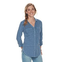 Womens Button-Down Shirts Shirts & Blouses - Tops, Clothing | Kohl's