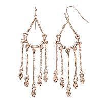 LC Lauren Conrad Leaf Nickel Free Chandelier Earrings