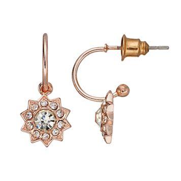 LC Lauren Conrad Starburst Nickel Free Hoop Earrings