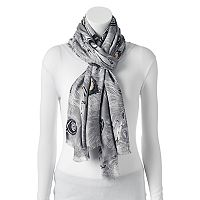 Apt 9® Peacock Feathers Pashmina Oblong Scarf