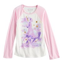 Girls 4-10 Jumping Beans® Unicorn Raglan Tee