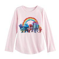 Girls 4-10 Jumping Beans® DreamWorks Trolls Poppy, Branch & DJ Suki Rainbow Tee