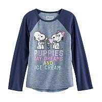 Girls 4-10 Jumping Beans® Peanuts Snoopy & Belle Raglan Tee