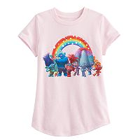 Girls 4-10 Jumping Beans® DreamWorks Trolls Poppy, Branch & DJ Suki Rainbow Short-Sleeved Tee