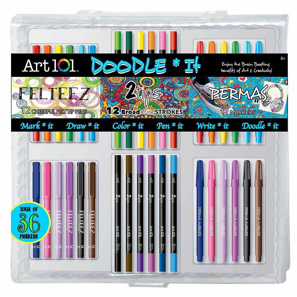Art 101 36-pc. Doodle It PVC Art Set