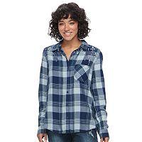 Juniors' Mudd® Plaid Flannel Shirt