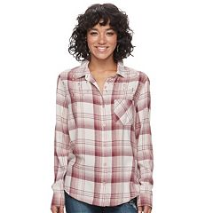 Juniors' Mudd® Plaid Flannel Shirt