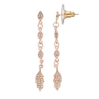 LC Lauren Conrad Leaf Link Nickel Free Linear Drop Earrings