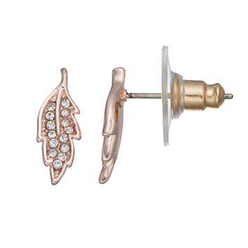 LC Lauren Conrad Leaf Nickel Free Stud Earrings