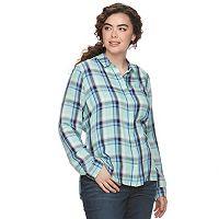 Juniors' Plus Size SO® High-Low Hem Shirt