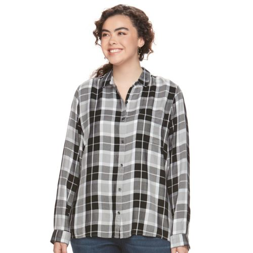Juniors' Plus Size SO® High-Low Hem Shirt