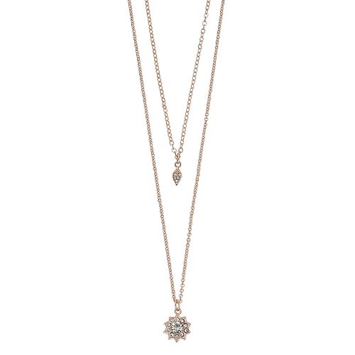 LC Lauren Conrad Leaf & Starburst Double Strand Necklace
