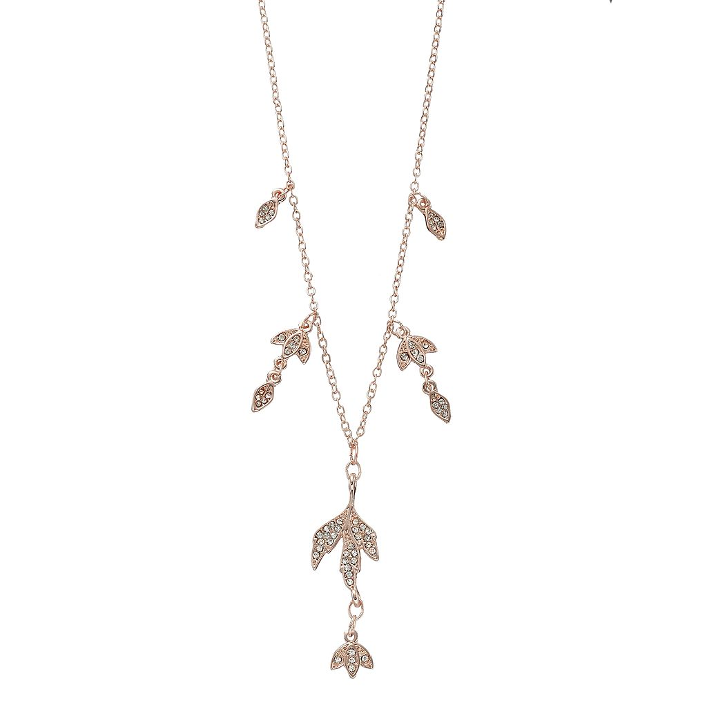 LC Lauren Conrad Pave Leaf Necklace