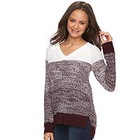 Juniors' SO® Raglan V-Neck Sweater