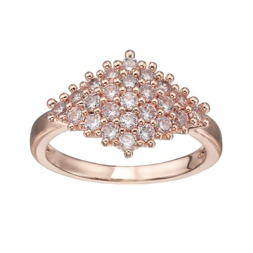 Lc Lauren Conrad Cubic Zirconia Pave Art Deco Ring by Kohl's