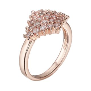 LC Lauren Conrad Cubic Zirconia Pave Art Deco Ring